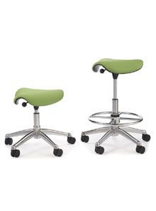 I perch. I don't sit. Humanscale. http://www.humanscale.com/products/product_detail.cfm?group=FreedomSaddleSeat