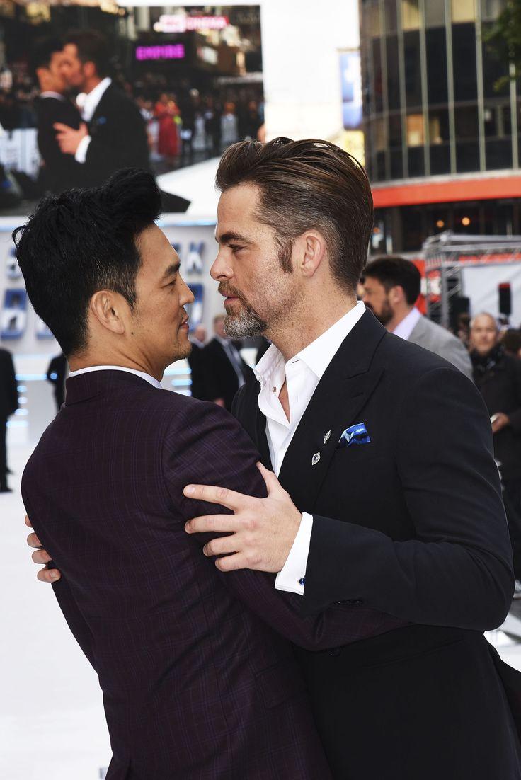 "Chris Pine And John Cho In Tender Clinch At ""Star Trek Beyond"" Premiere In London"