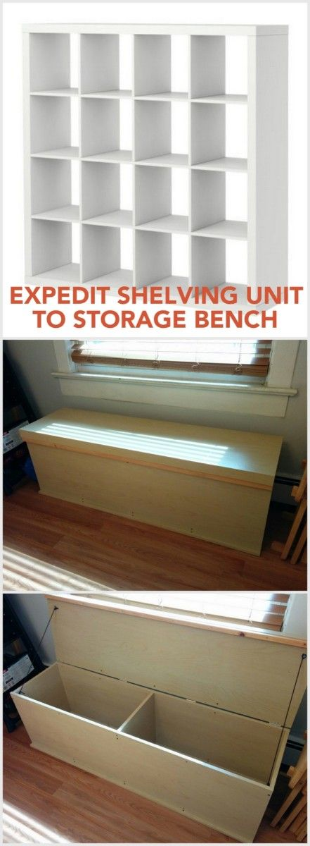228 best images about ikea expedit kallax hacks on for Ikea expedit storage bench