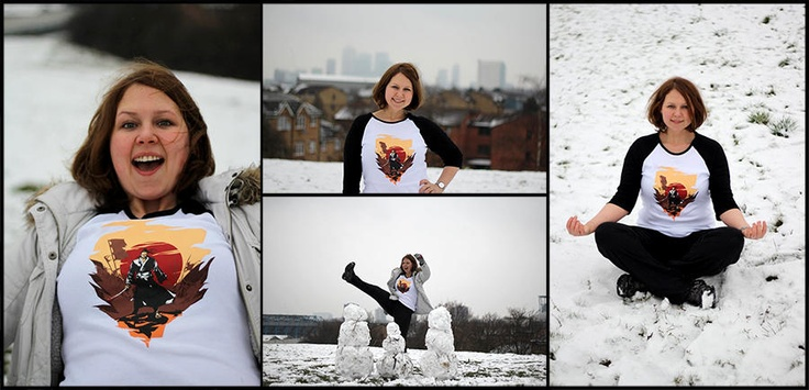Ladies Long Sleeve T (custom made)  Our Fb fan Anna from London shared her pics in Samuraii tee! Join her and show us yours!