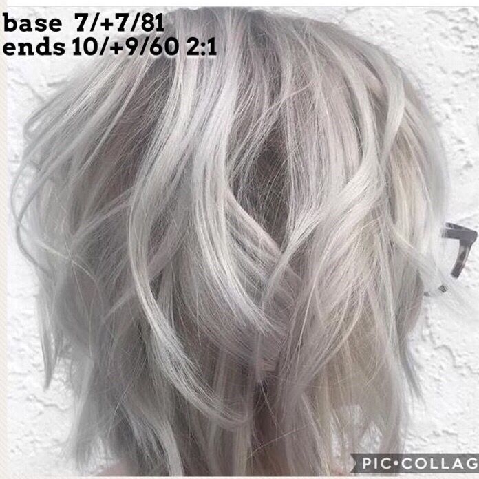 Gorgeous Wella Ash Silver Gray Blonde Toner Glaze Color Formula