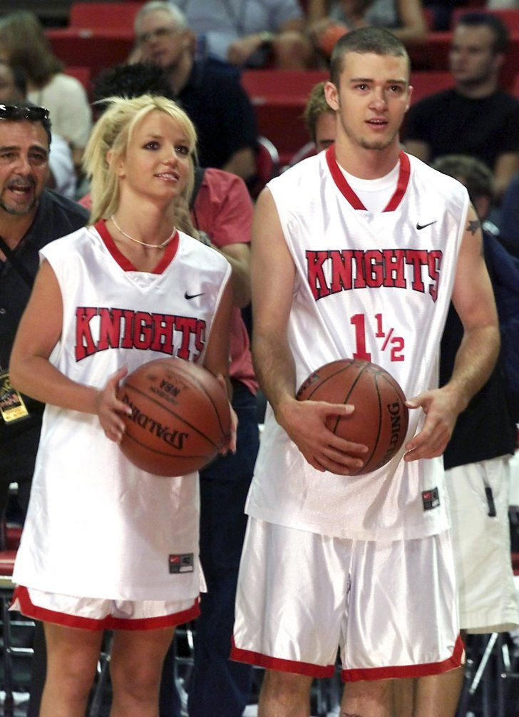 Pin for Later: 40 Pictures of Charitable Celebrities Giving Back Britney Spears and Justin Timberlake Then-couple Britney and Justin participated in *NSYNC's Challenge For the Children basketball game in Las Vegas back in July 2001.
