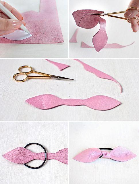 Diy Leather Bow Hair Tie | Flickr: Intercambio de fotos