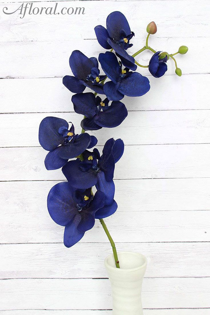 253 best something blue images on pinterest silk flowers bloom this stunning dark sapphire blue silk orchid is perfect to add bold color to your tropical mightylinksfo