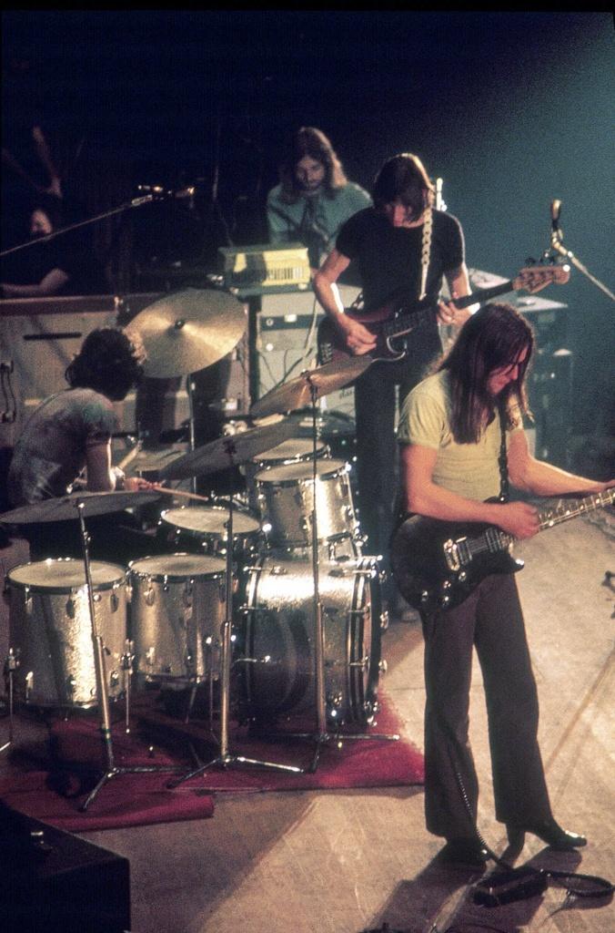 No conocía esta foto de Pink Floyd.