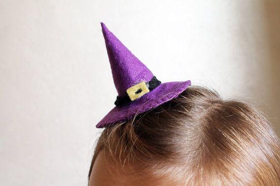 Fermacapelli cappello da strega Halloween di Unavitaacolori
