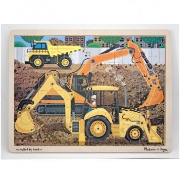 Melissa & Doug Diggers at Work 24 piece Wooden Jigsaw Puzzle