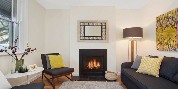 Intimate formal sitting room, 2000 watt electric fire place