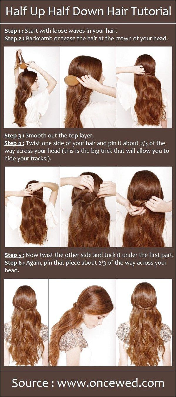 Half Up Half Down Hair Tutorial beauty tutorials-this is actually close to how my hair looks so ill be interested to try this! click for more informa