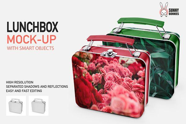 Download Lunchbox Mock Up 2 Types Psd Mockup Lunch Box Mockup Mockup Free Psd