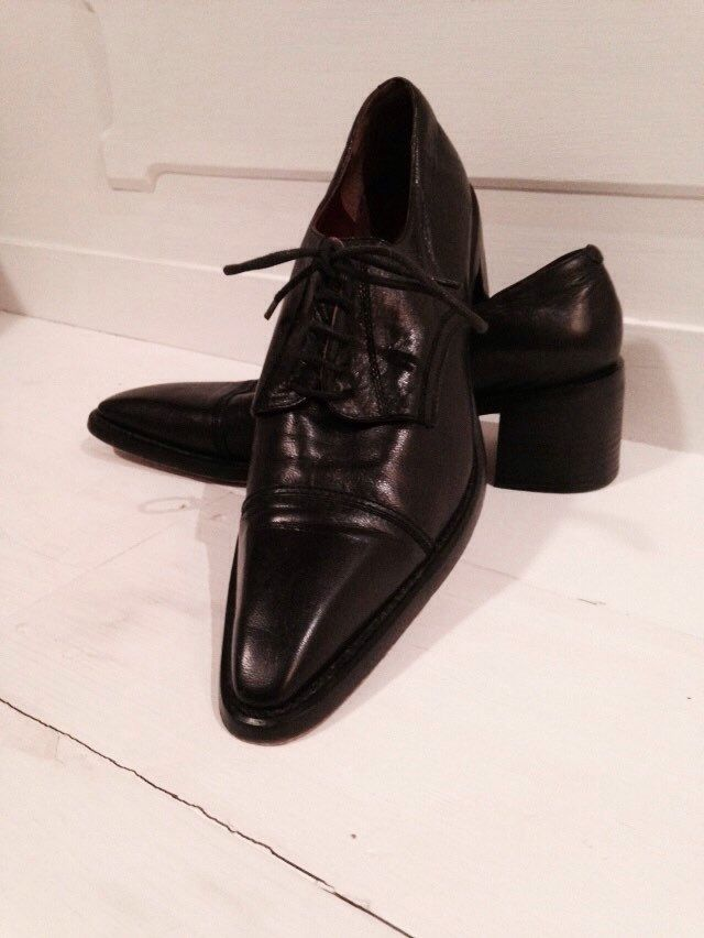 A personal favorite from my Etsy shop https://www.etsy.com/ca/listing/260016320/vintage-oxford-black-leather-shoes-80s