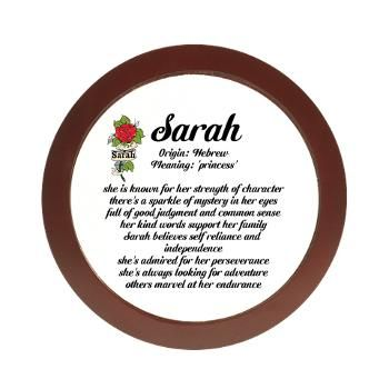 Sarah Name Meaning Jewelry Case Positive Name Declaration ...
