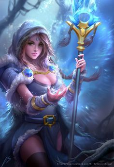 Dota 2 fanart Crystal Maiden, Derrick Song on ArtStation at https://www.artstation.com/artwork/xNWL4