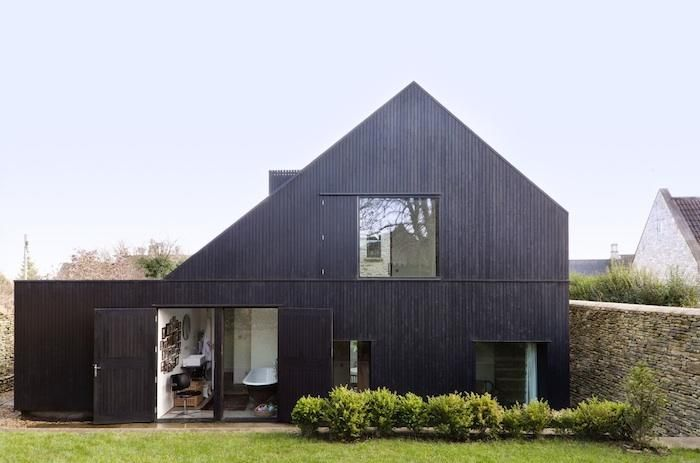 black-stained timber clad