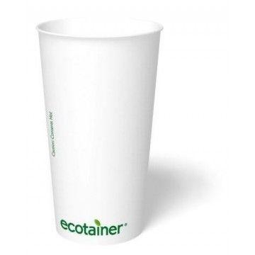 Vaso cartón biodegradable y compostable. Disponible en diferentes capacidades. http://www.ilvo.es/4733-vaso-carton-eco-pla.html