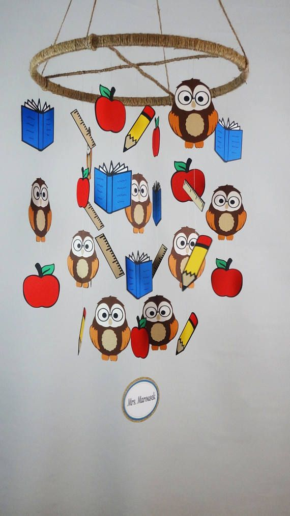Owl Baby Mobile Classroom Ceiling Decoration with Owls