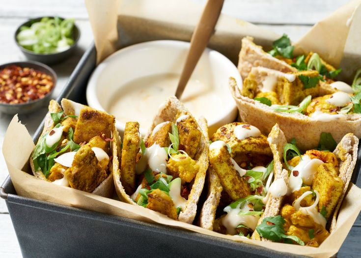 Great for sharing or snacking on with friends, these tasty cauliflower and tofu pittas will be gone before you know it!