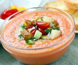 Gazpacho suppe opskrift