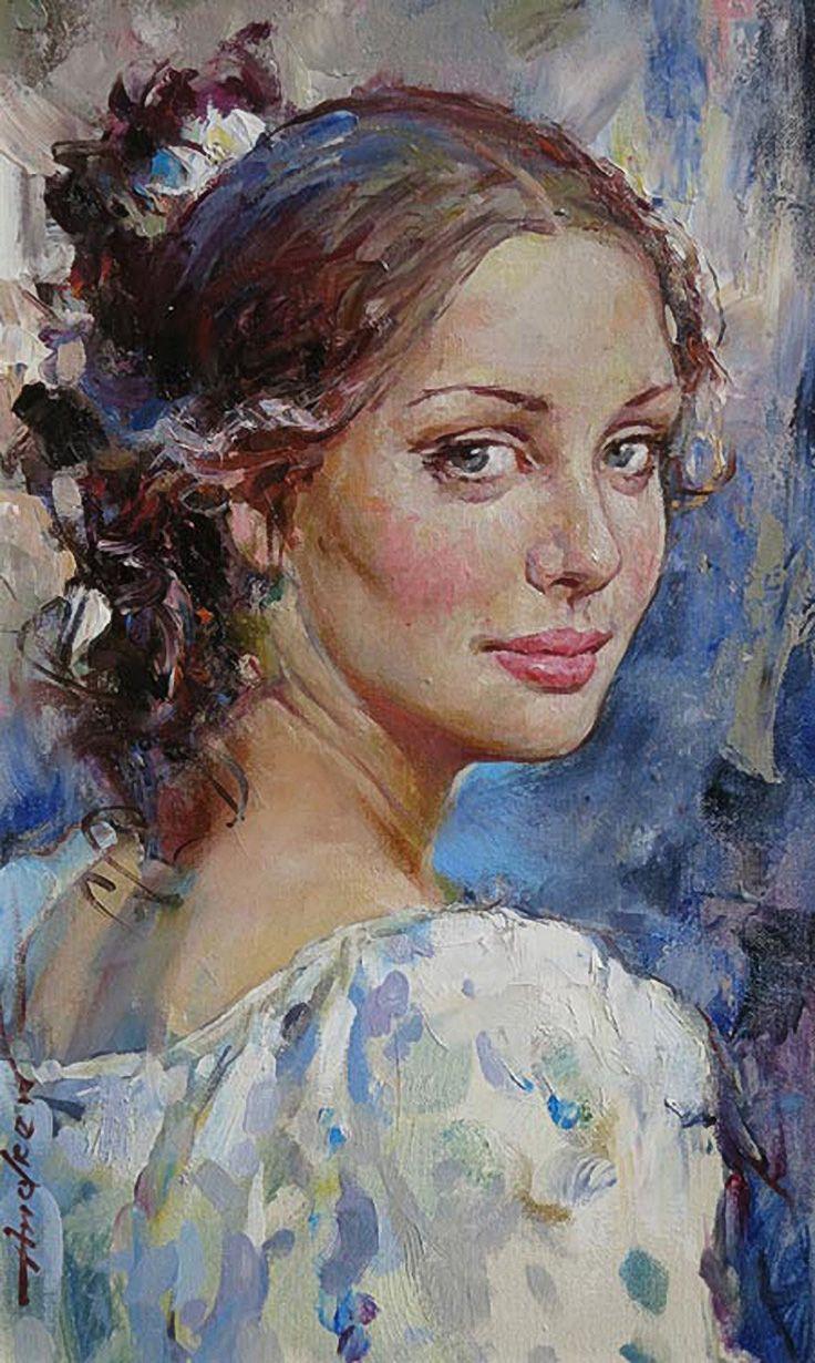 Quot The Glance Quot Andrew Atroshenko B 1965 Oil On Canvas