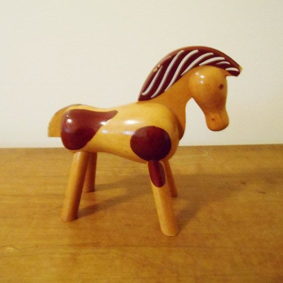 Vintage Kay Bojesen Painted Pony / Early and Scarce Toy on Etsy, $350.00