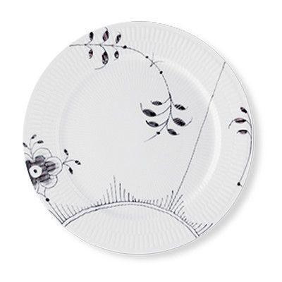 """Royal Copenhagen Black Fluted Mega 10.75"""" Dinner Plate"""