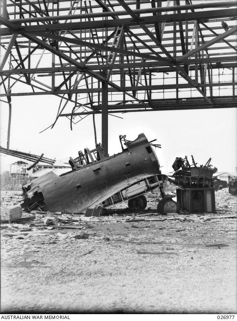 DARWIN, NT. 1942-10-08. IN THE FIRST AIR-RAID ON DARWIN ON 1942-02-19 THE RAAF…