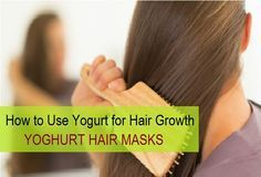 How to use Yoghurt for Hair Growth, hair loss and baldness cure. Here we have shared the best Curd or dahi Hair Masks that are used for faster hair growth