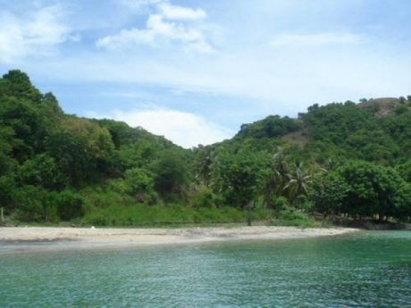 Beachfront building land for sale on the island of Gili Asahan, Lombok, Indonesia.