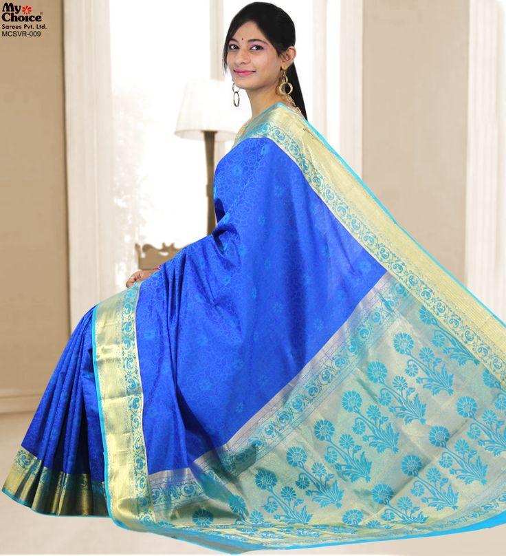 Vidrol Silk Blue Saree