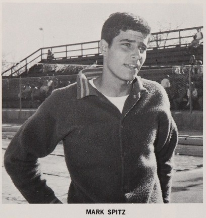 Mark Spitz, winner of 7 Gold medals in the 1972 Olympics, seen here in his 1968 senior yearbook at Santa Clara High School, Santa Clara, CA.