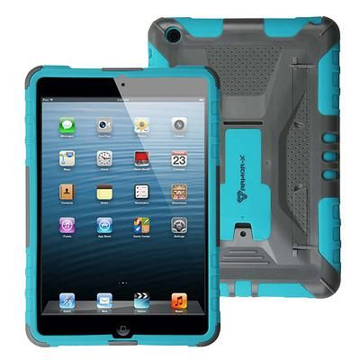 Rugged shockproof iPad mini case with kick stand and X-mount system. Design for outdoors.