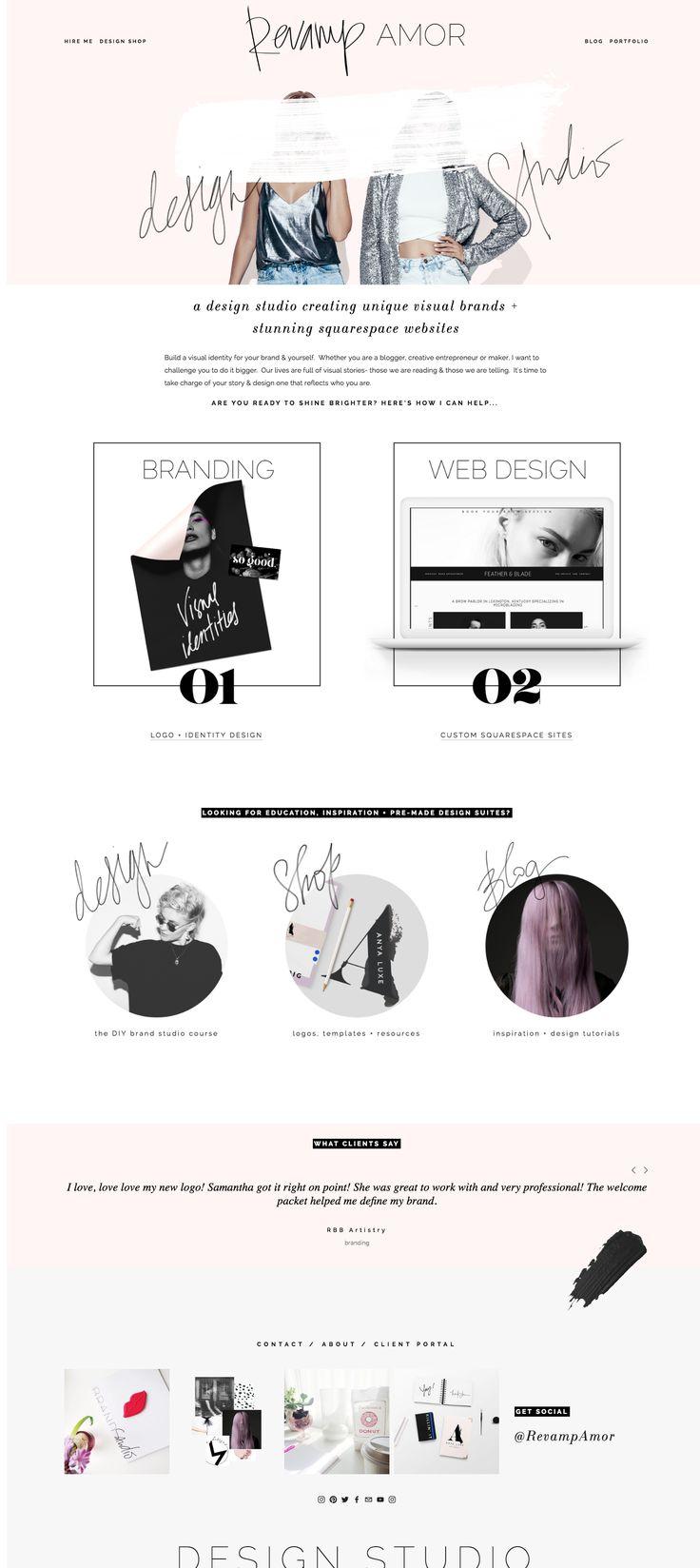 branding + custom squarespace design!  - Revamp, Amor Design Studio