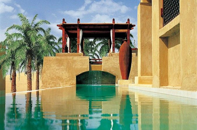 Designed like an #Arabian village, with small passageways, pools and fountains at every turn, you really can't help but be impressed when you are being led to your room. The rooms themselves are extremely atmospheric. With dark wood and stone baths, they are beautifully designed and laid out, you get a real feeling of being in an Arabian villa.