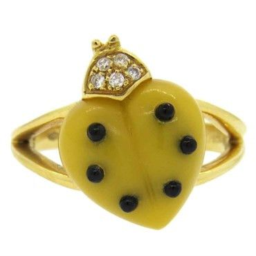 Ladybug Diamond Ring
