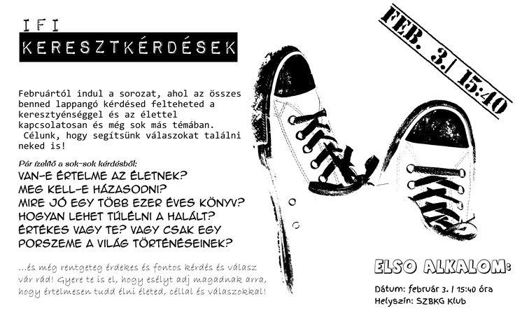 Saját készítésű plakátok    IFI Keresztkérdések [] My posters, event flyers    Cross Questions for teenagers