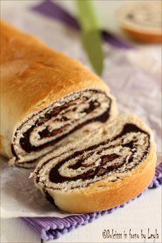 Pane dolce al cioccolato o Chocolate Swirl Bread  #bread #chocolate #cioccolato #pane #dolce #brioche #swirl
