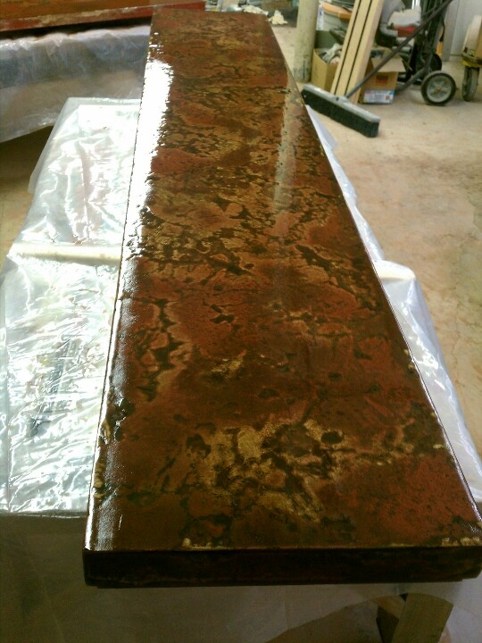 Concrete bar top in process home ideas pinterest bar for Concrete bar top ideas