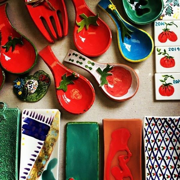 Olivia Romero's work for Nashville's Tomato Art Fest, August 2014.  http://www.theclaylady.com