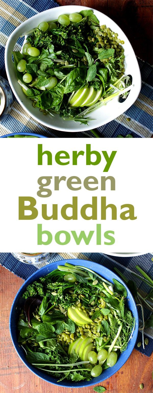 herby green Buddah bowls