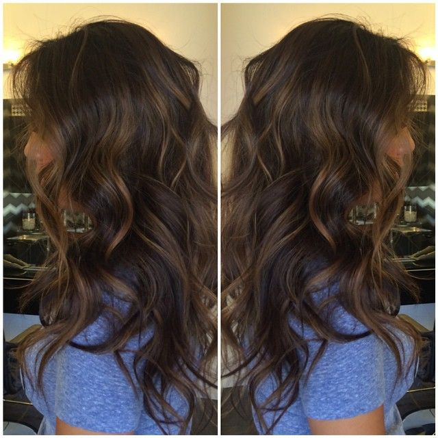 Dark Brown With Soft Highlights Hair Pinterest Dark Brown