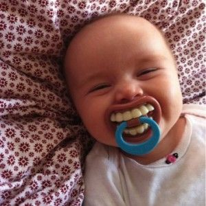 Funny TEETH kid child toddler Novelty costume BABY PACIFIER Billy Bob - so silly!