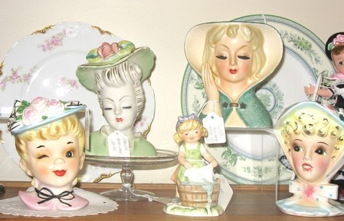 Fabulous head vases dolly-art