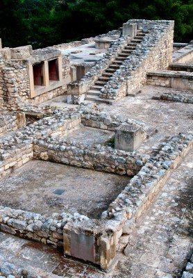 Antiguo Palacio de Knossos en la isla de Creta en Grecia