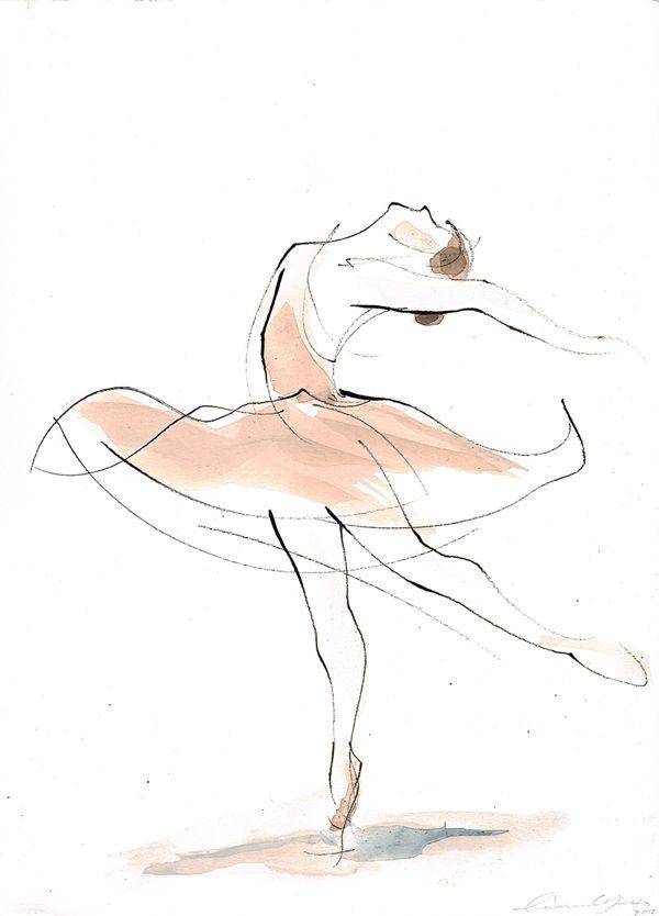 Dance Drawings by Catarina Garcia, via Behance