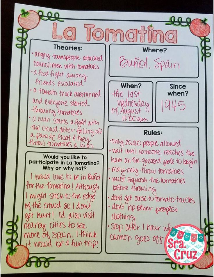 Sra. Cruz Blog: Teaching about La Tomatina in Spanish Class