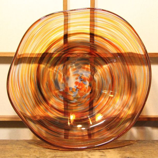 メルカリ商品: 多色吹雪 レトロなガラスのコンポート #メルカリ
