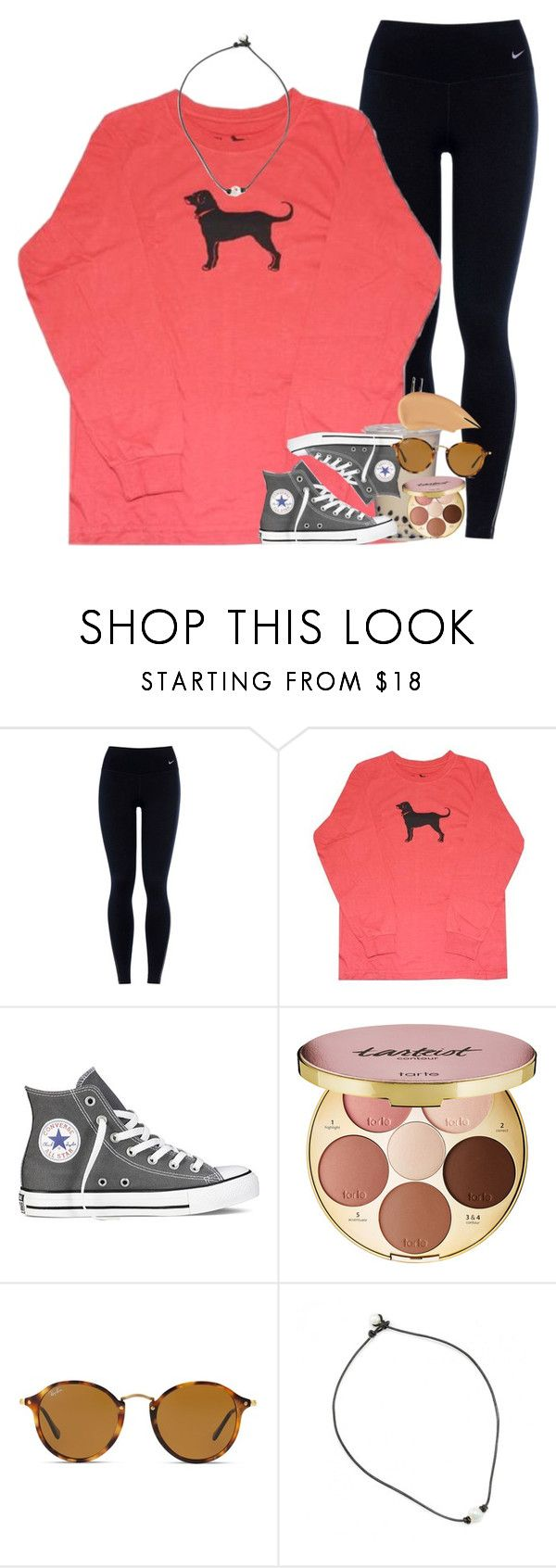 """[ rtd ]"" by ellaswiftie13 ❤ liked on Polyvore featuring NIKE, Converse, tarte, Ray-Ban and NARS Cosmetics"
