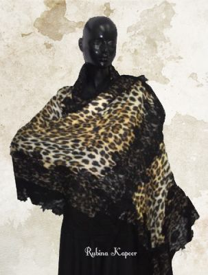 Animal Print With Black Lace!