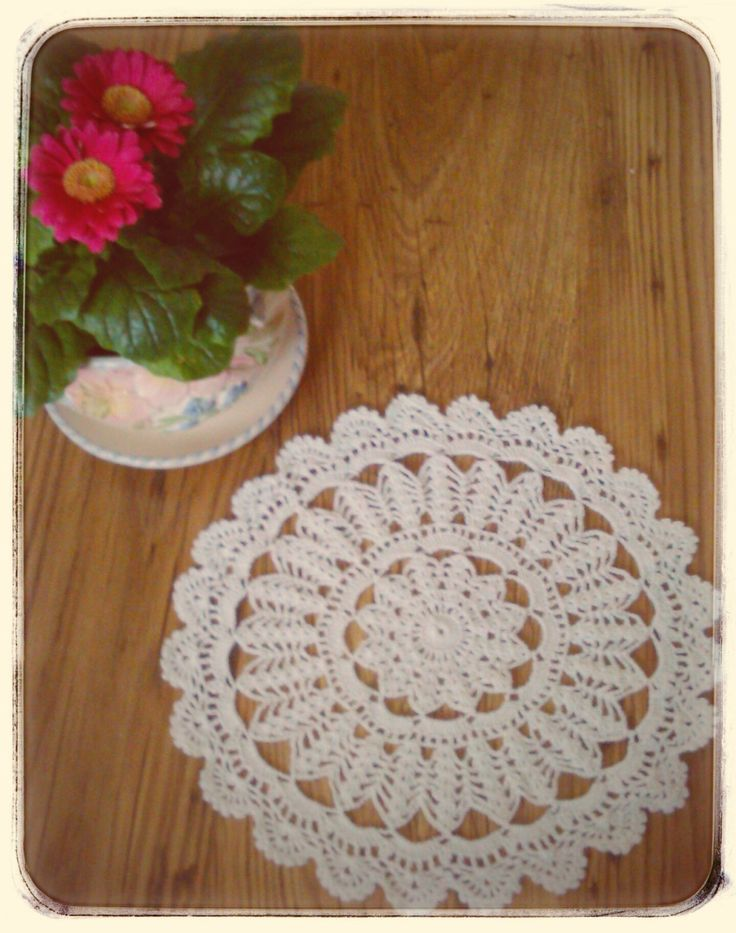 cotton handmade doily by CrochetByJADEGoods on Etsy