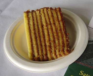 """Maryland designated Smith Island cake as the official state dessert in 2008. Sometimes compared to tortes, the Smith Island cake (simply called """"layer cakes"""" on Smith Island) come in just about any flavor, but they're stacked 8 to 12 layers high.  http://www.statesymbolsusa.org/"""